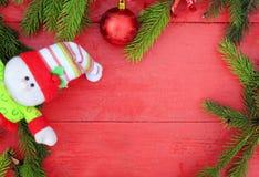 Fondo festivo dei rami di albero verdi fragranti dell'abete, Christm immagine stock