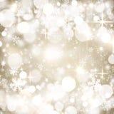 Fondo festivo del invierno, círculos beige, blancos, copos de nieve, bokeh, la Navidad, diciembre, enero, febrero, brillo ilustración del vector