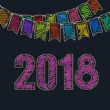 Fondo festivo 2018 del nuovo anno Fotografie Stock Libere da Diritti