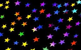 Fondo festivo del partido de las estrellas Fotografía de archivo