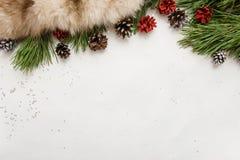 Fondo festivo della decorazione di vacanze invernali Immagine Stock Libera da Diritti
