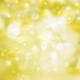 Fondo festivo giallo Fotografia Stock Libera da Diritti