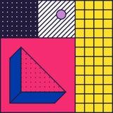 Fondo festivo nello stile 80s illustrazione vettoriale