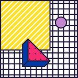Fondo festivo nello stile 80s royalty illustrazione gratis