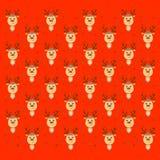 Fondo festivo variopinto allegro con la renna divertente illustrazione vettoriale