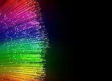 Fondo a fibra ottica Fotografie Stock Libere da Diritti