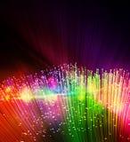 fondo a fibra ottica Fotografia Stock