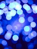 Fondo a fibra ottica blu Fotografia Stock