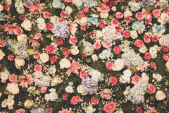 Fondo filtrado, papel pintado de la decoración hermosa de la boda de la flor Imagen de archivo