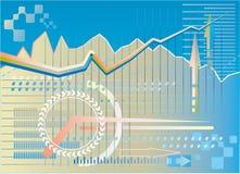 Fondo financiero ilustración del vector
