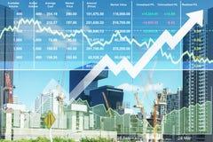 Fondo financiero común del índice del negocio de construcción imagen de archivo libre de regalías