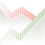Fondo financiero de la carta de la estadística Fotos de archivo libres de regalías