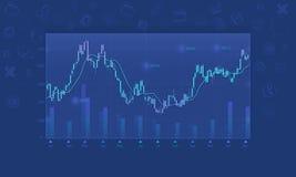 Fondo finanziario del grafico di affari Fotografia Stock Libera da Diritti