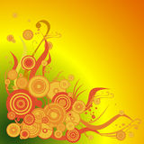 Fondo floral stock de ilustración