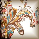 Fondo floral abstracto 3 ilustración del vector