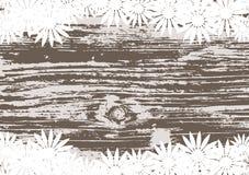 Fondo floral abstracto con fantasía de madera Imágenes de archivo libres de regalías