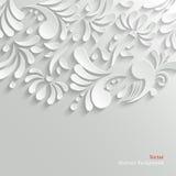 Fondo floral abstracto 3d stock de ilustración