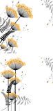 Fondo floral abstracto de los elementos de la planta Fotografía de archivo libre de regalías