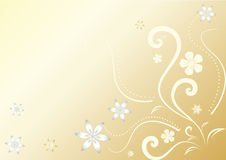 Fondo floral abstracto del oro Fotos de archivo