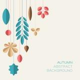 Fondo floral abstracto del otoño con el lugar para su texto ilustración del vector