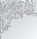 Fondo floral abstracto del vector 3d Imagenes de archivo