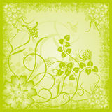 Fondo floral abstracto, grunge, vector Fotos de archivo