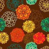 Fondo floral abstracto, modelo inconsútil del tema del verano, vecto Foto de archivo
