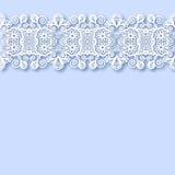 Fondo floral adornado con la raya del ornamento Imagen de archivo libre de regalías