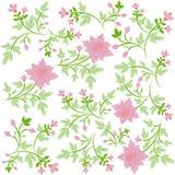 Fondo floral adornado de Seamsless Imagen de archivo libre de regalías