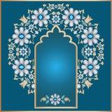 Fondo floral adornado stock de ilustración