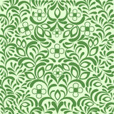 Fondo floral adornado inconsútil verde Foto de archivo