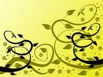 Fondo floral amarillo Foto de archivo libre de regalías