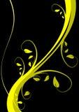 Fondo floral amarillo ilustración del vector