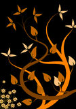 Fondo floral anaranjado ilustración del vector