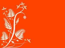 Fondo floral anaranjado abstracto libre illustration