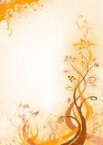 fondo floral Anaranjado-marrón stock de ilustración