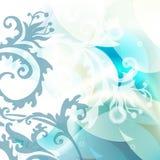 Fondo floral azul Imágenes de archivo libres de regalías