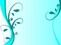 Fondo floral azul Imagen de archivo libre de regalías