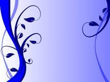 Fondo floral azul ilustración del vector