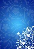 Fondo floral azul Imagen de archivo