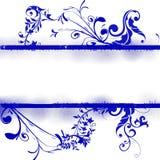Fondo floral azul Foto de archivo