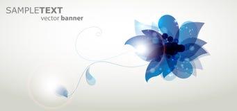 Fondo floral azul abstracto Foto de archivo libre de regalías