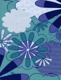 Fondo floral azul abstracto Imagenes de archivo