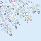 Fondo floral azul claro Foto de archivo libre de regalías
