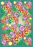 Fondo floral brillante ilustración del vector