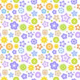 Fondo floral brillantemente coloreado inconsútil del vector Fotografía de archivo