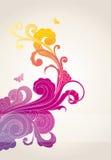 Fondo floral coloreado ilustración del vector