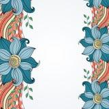 Fondo floral coloreado vector Fotografía de archivo
