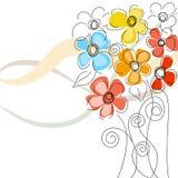 Fondo floral colorido stock de ilustración