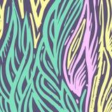 Fondo floral colorido abstracto étnico del vector Foto de archivo libre de regalías